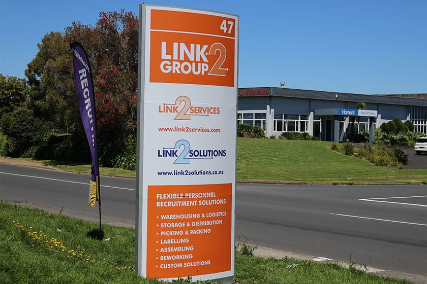 Link2 Group new look roadsign