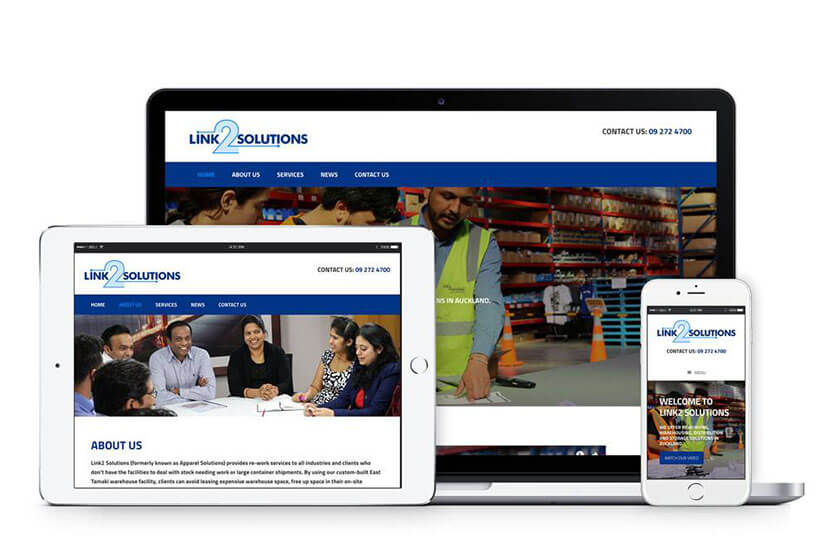 Link2 Group new look website for Link2 Solutions